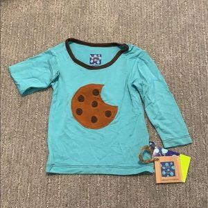 NWT Kickee Pants glacier cookie shirt
